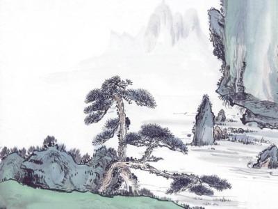 中国笔墨山水画壁纸_创意_太平洋电脑网图片